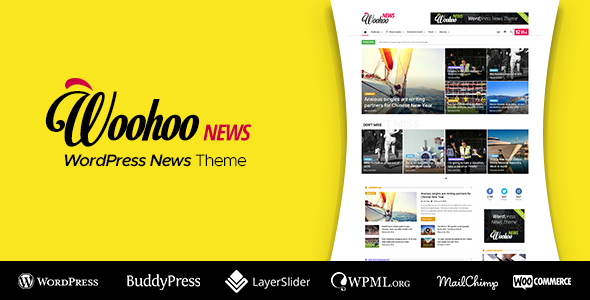 Woohoo v2.4.0 — WordPress news and magazine multi-concept website theme