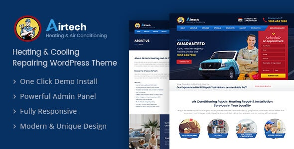 Airtech v1.3 — Plumber WordPress theme