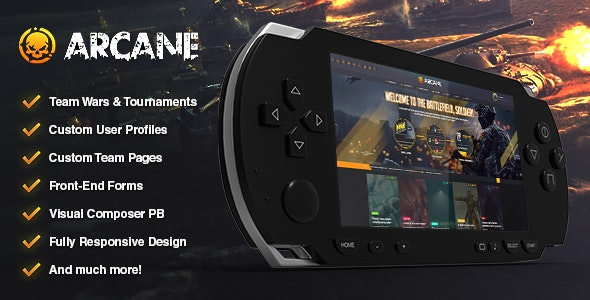 Arcane v2.6.4 — The Gaming Community Theme