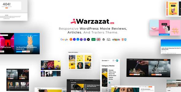 Warzazat v1.0 — Responsive WordPress Movie Reviews, Articles, And Trailers Theme