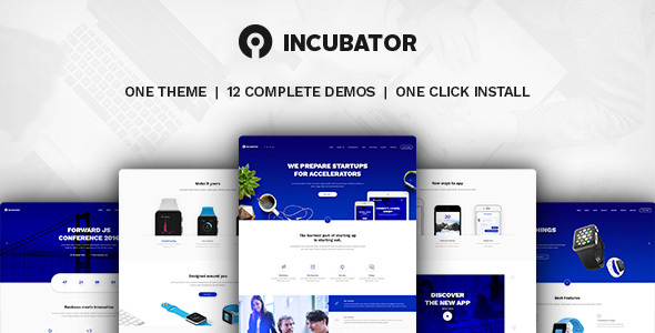 Incubator v1.9.9 — WordPress Startup Business Theme