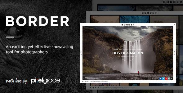 BORDER v1.9.0 — A Delightful Photography WordPress Theme