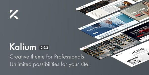 Kalium v2.9.3 — Creative Theme for Professionals