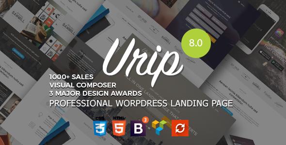 Urip v8.4.4 — Professional WordPress Landing Page