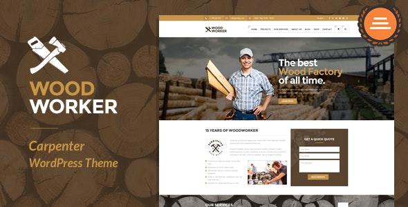 WoodWorker v3.5 — Carpenter Handy Service WordPress Theme