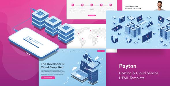 Peyton v1.0 — Hosting & Cloud Service HTML Template