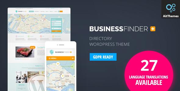 Business Finder v2.68 — Directory Listing WordPress Theme