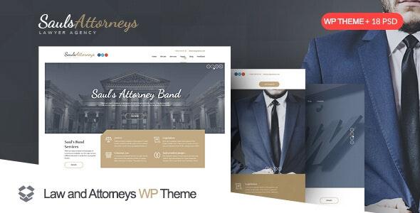 SaulsAttorneys v1.2.8 — Lawyer & Attorney WordPress Theme