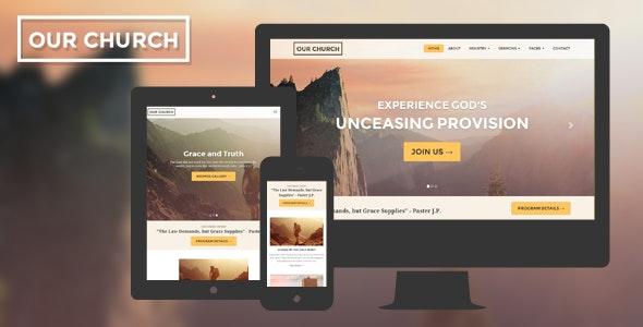 Church v1.2 — Responsive HTML5 Website Template