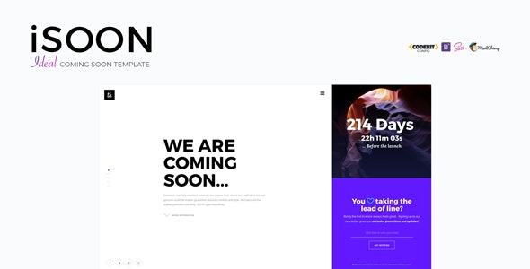 iSOON — Ideal Coming Soon Template (Updated)