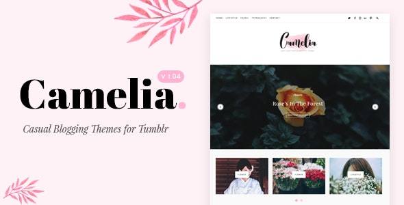 Camelia v1.05 — Responsive Blogging Tumblr Theme
