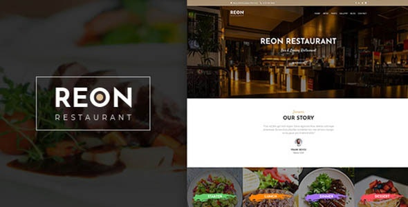 Reon v1.0.9 — Restaurant WordPress Theme