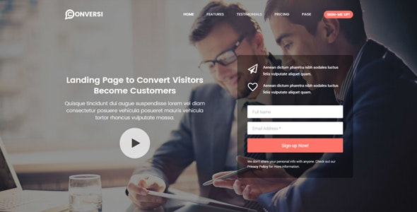 Conversi v1.3.0 — Professional Conversion Landing Page