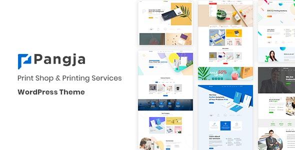 Pangja v1.1.1 — Print Shop & Printing Services WordPress theme