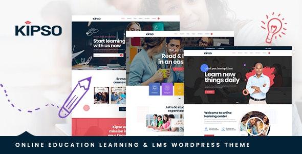 Kipso v1.0.0 — Education LMS WordPress Theme