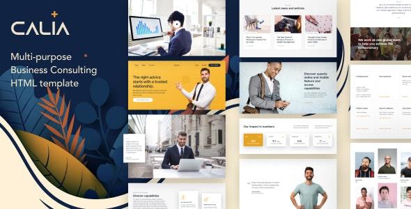 Calia v1.0 — Business Consulting HTML Template