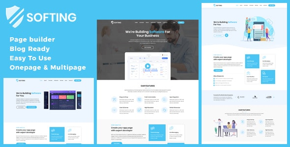 Softing v1.2.6 — WordPress Software Landing Page Theme