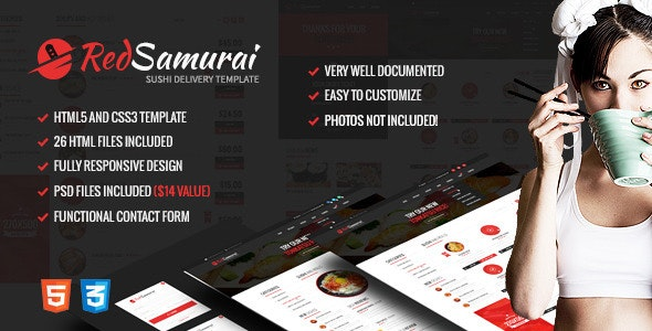 Red Samurai — HTML5 and CSS3 Responsive Template — updated