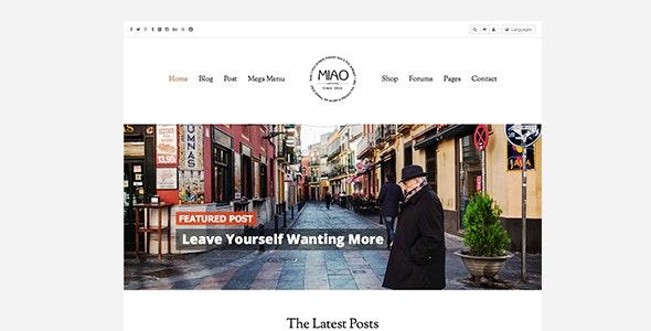 Miao v1.1 — Fashion Magazine, News & Blog WordPress Theme