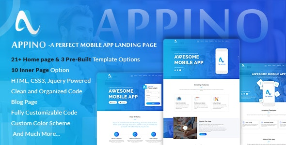 APPINO v2.5 — A Perfect Mobile App Landing Page