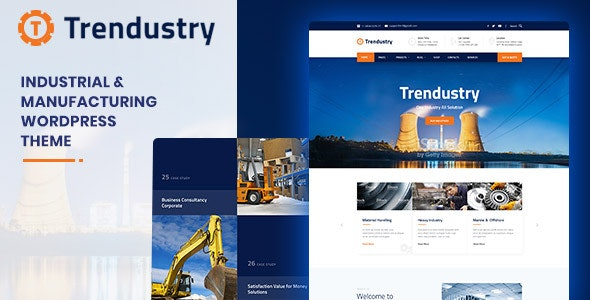 Trendustry v1.0.4 — Industrial & Manufacturing WordPress Theme