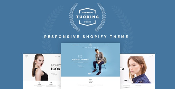Tuoring v2.0 — Responsive Fashion, Tee, Clothing Shopify Theme (Sections Ready)