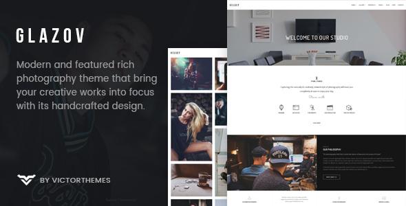 Glazov v1.5 — Photography WordPress Theme