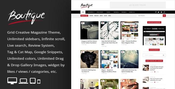 Boutique Grid v2.8 — Creative Magazine WordPress Theme