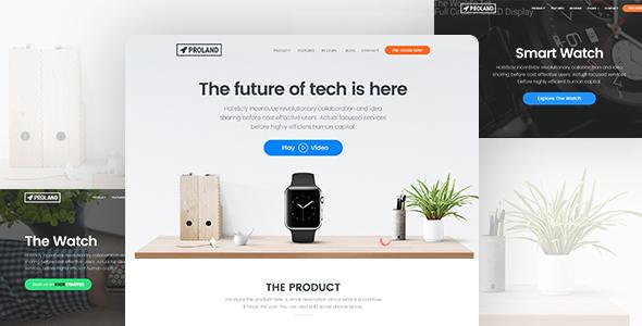 Proland v1.6.4 — WordPress Product Landing Page Theme