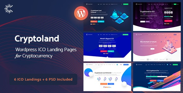 Cryptoland v2.1.3 — ICO Landing Pages WordPress Theme