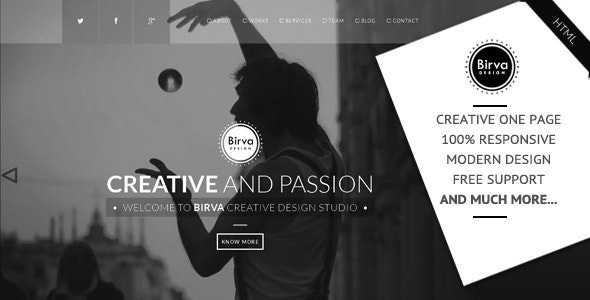 Birva Design v1.0 — Creative One Page Theme