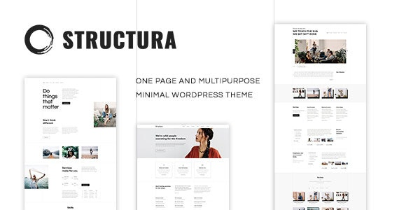 Structura v1.4.7 — Minimal One Page Theme