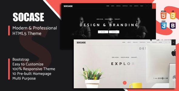 Socase v1.0 — Multipurpose HTML5 Template