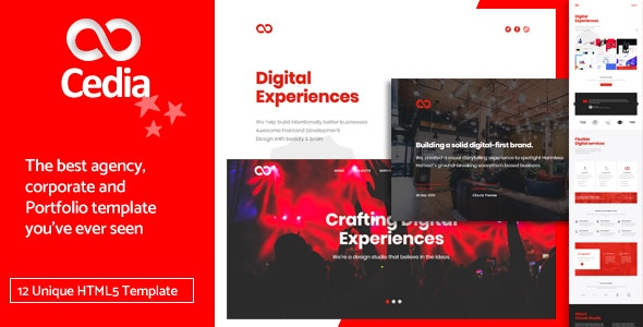 Cedia v1.0 — Creative Agency, Corporate and Portfolio Multi-purpose Template