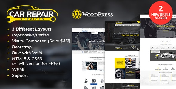 Car Repair Services & Auto Mechanic WordPress Theme v2.8