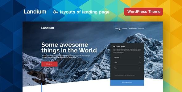Landium v2.2.2 — WordPress App Landing Page