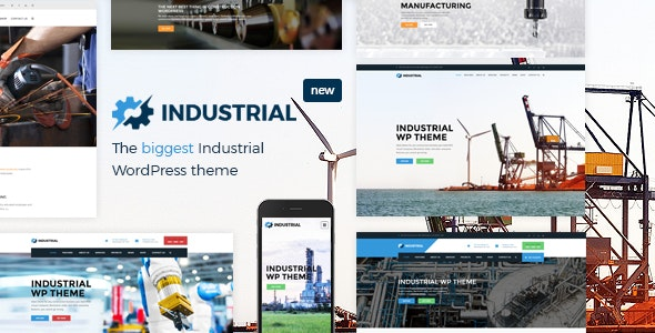 Industrial v1.4.5 — Factory Business WordPress Theme