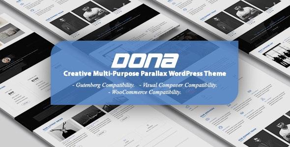 DONA v3.0 — Creative Multi-Purpose Parallax WordPress Theme