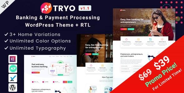 Tryo v1.0 — Banking & Payment WordPress Theme