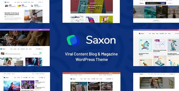 Saxon v1.7.4 — Viral Content Blog & Magazine Theme