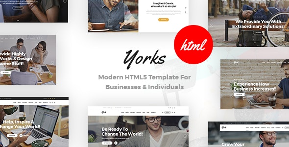 Yorks v1.0 — Modern HTML5 Template For Businesses & Individuals
