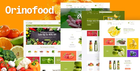 Orinofood v1.0 — Organic Opencart Theme