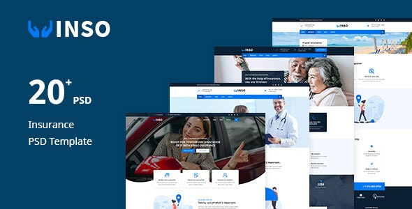 Vinso — Insurance PSD Template