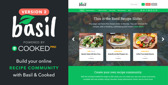 Basil Recipes v2.0.3 — A Recipe-Powered WordPress Theme