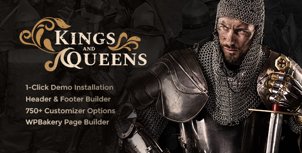 Kings & Queens v1.1.2 — Historical Reenactment Theme