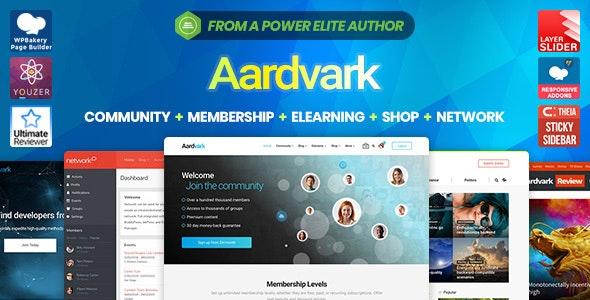 Aardvark v4.14 — Community, Membership, BuddyPress Theme