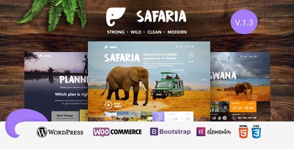 Safaria v1.3 — Safari & Zoo WordPress Theme