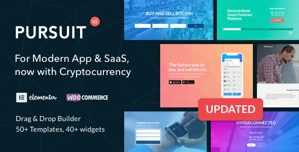 Pursuit v2.1.1 — A Flexible App & Cloud Software Theme
