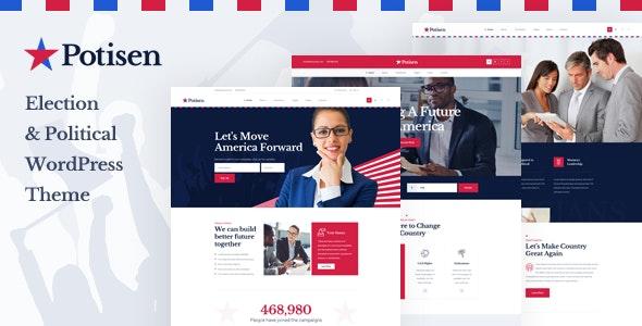 Potisen v1.0 — Election & Political WordPress Theme