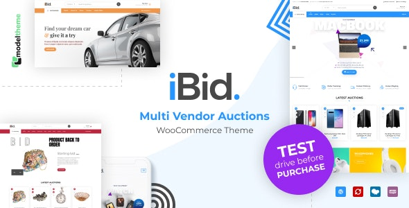 iBid v1.3 — Multi Vendor Auctions WooCommerce Theme